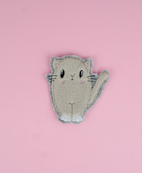Stickdatei Katze Applikation (Fluffie) katze applikation »Catty« 🐈 by Fluffie&Fans stickdatei katze applikation fluffie 02 494x600