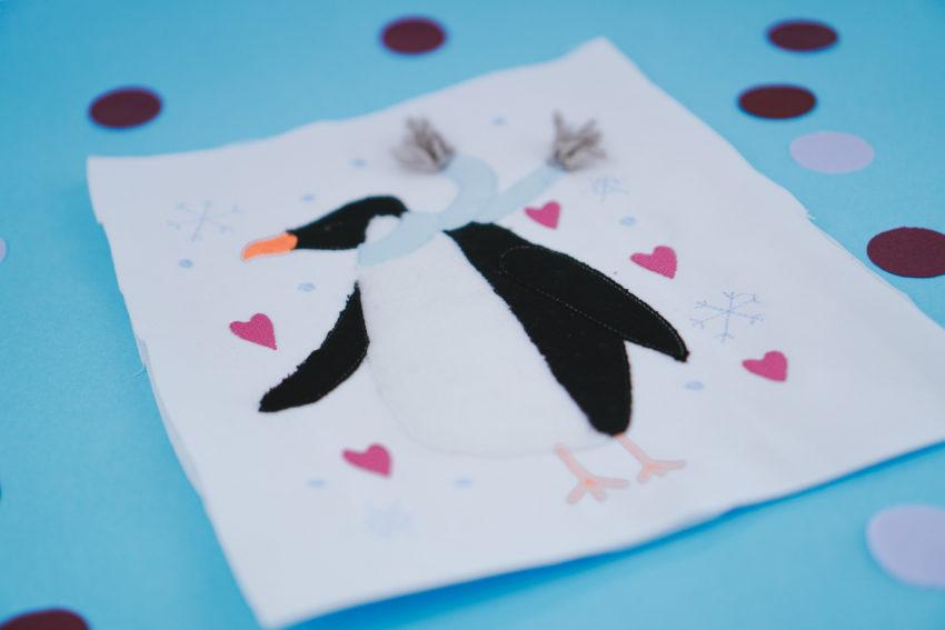 Stickdatei Pinguin