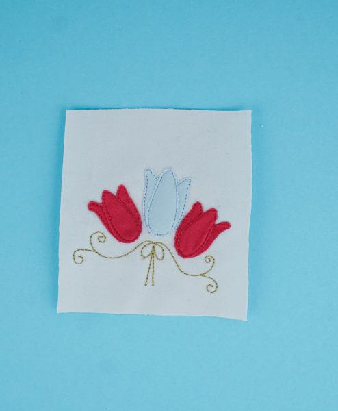 Stickdatei Tulpe Ornamente