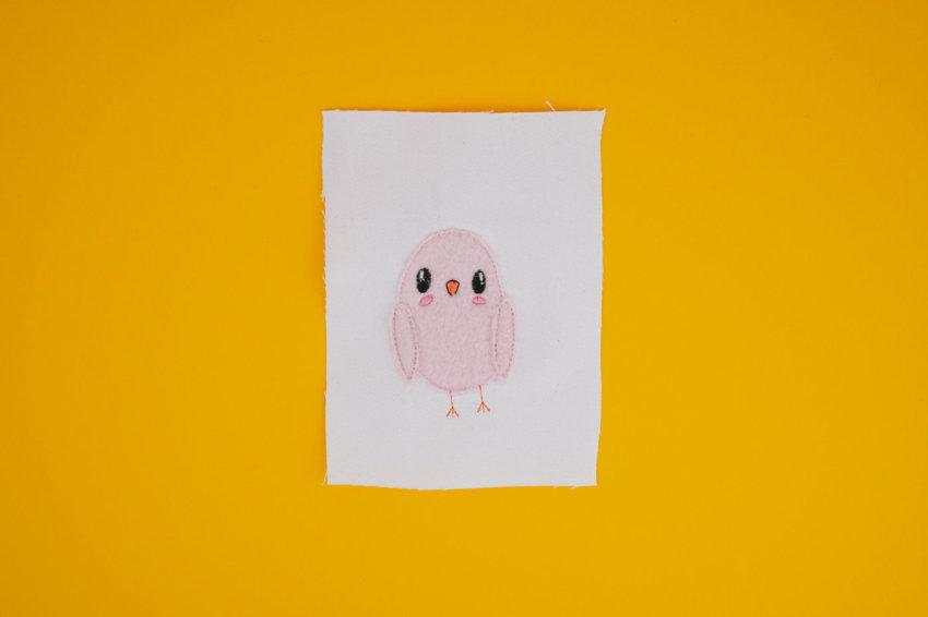 Stickdatei Vogel Fluffie