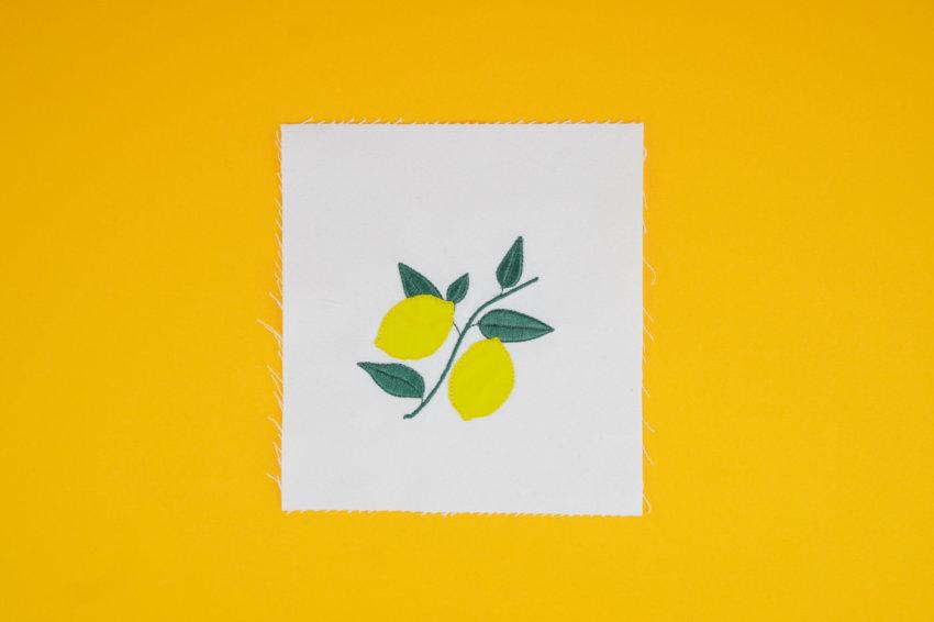 Stickdatei Zitronen