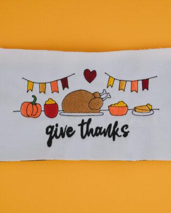 Stickdatei Thanksgiving (Anwendungsbeispiel)
