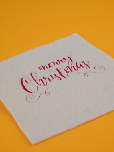 Stickdatei Weihnachten / Merry Christmas Schriftzug (Seitliche Ansicht)