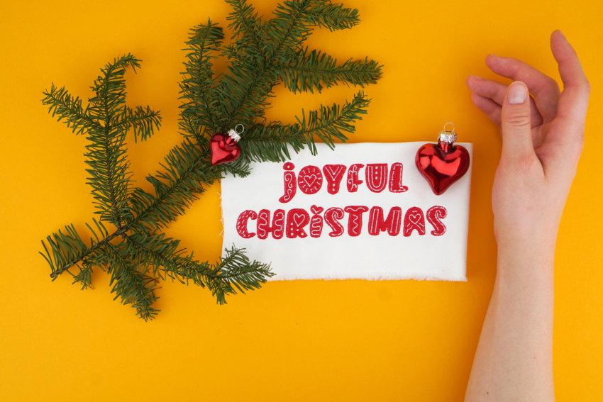 Stickdatei zum Thema Weihnachten (Joyful Christmas)