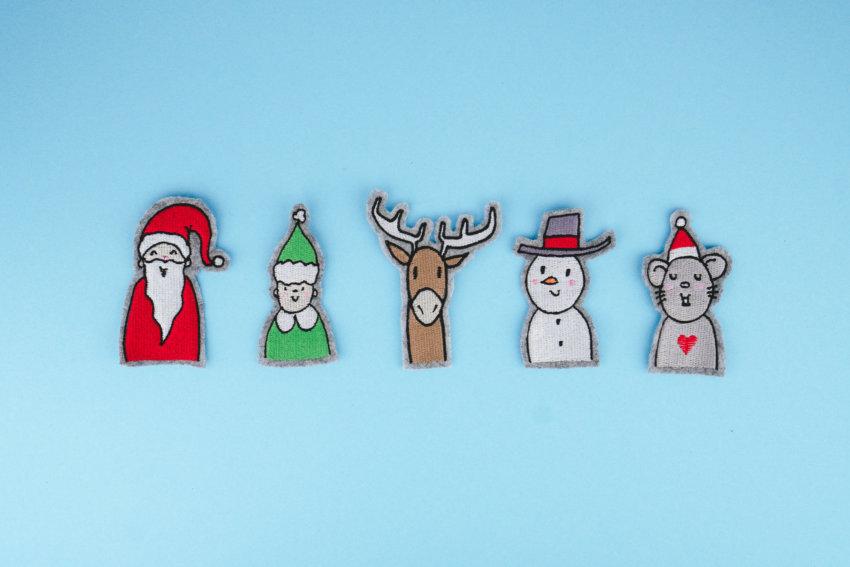 Stickdateien Weihnachten (Anwendungsbeispiel)