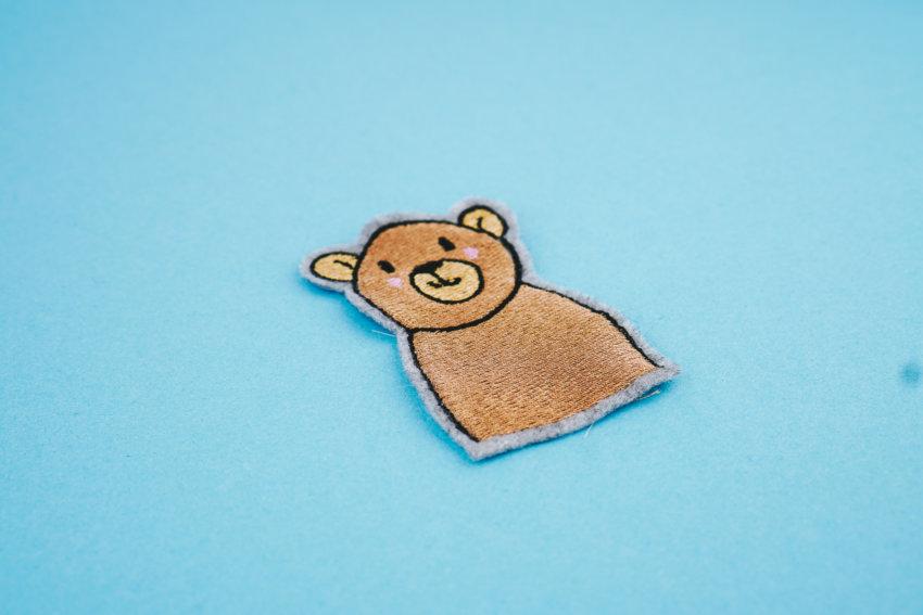 Stickdatei Bär (Anwendungsbeispiel)