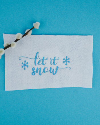 weihnachtliche Stickdatei »Let it snow«
