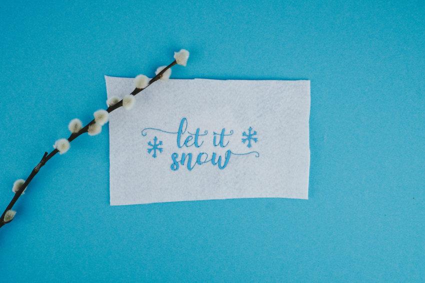 weihnachtliche Stickdatei »Let it snow«