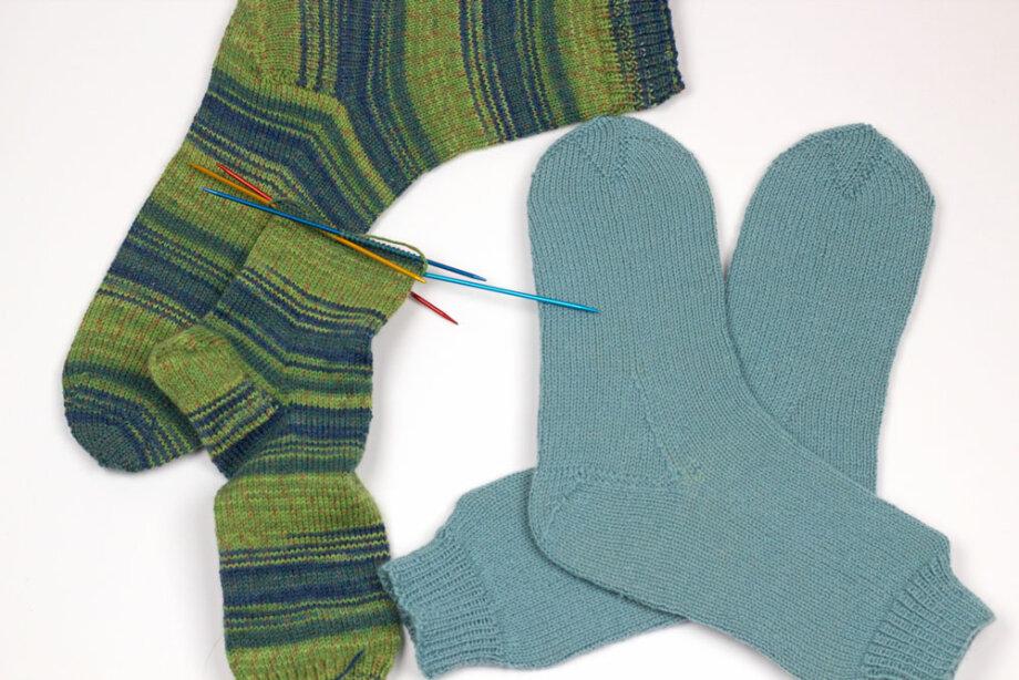 Socken gestrickt nach dem »Workshop« von Barbara