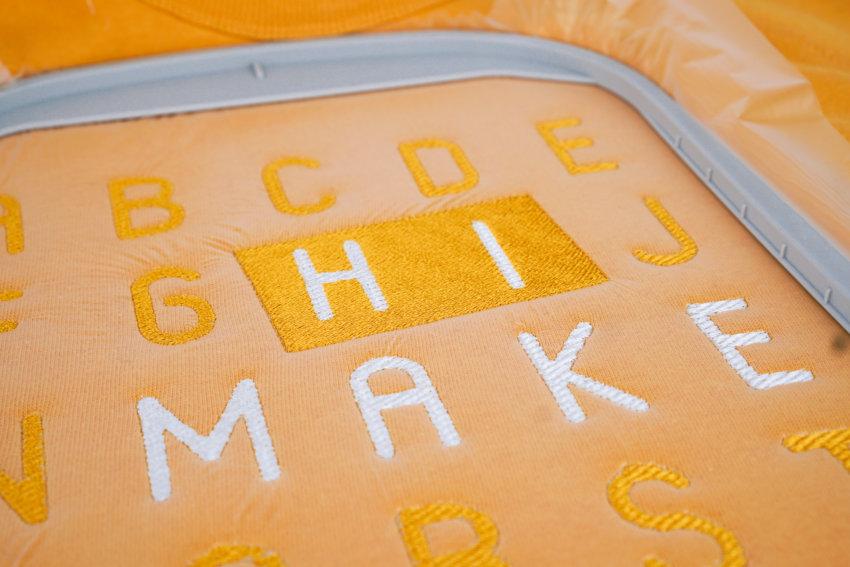 Stickdatei Alphabet / Buchstaben »MODERN«