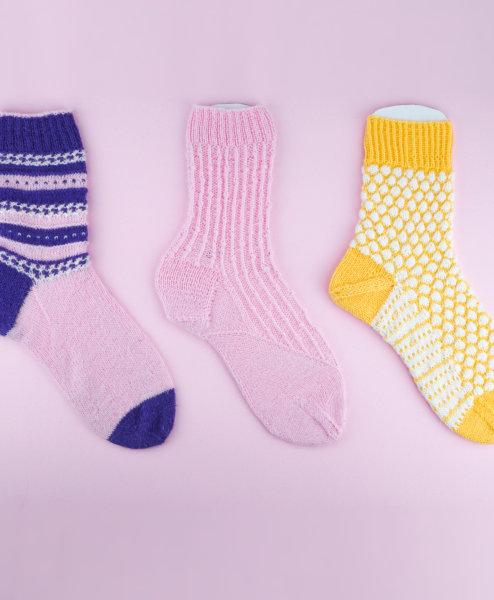 [object object] 3 Socken »ANESA, BERIT, CAJA« strickanleitung socken 494x600
