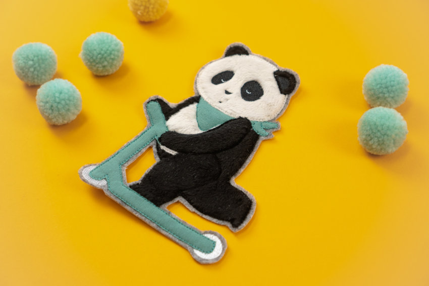 Applikation Panda sticken