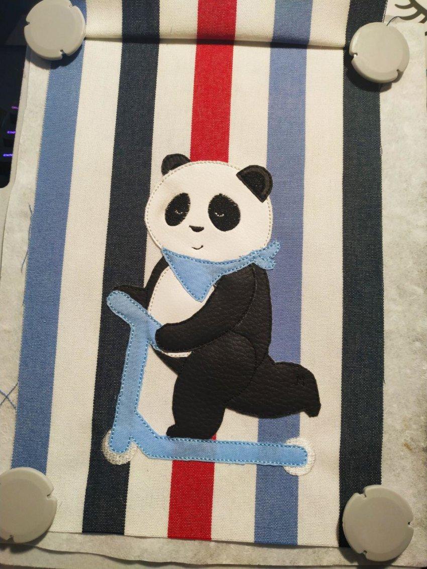 Stickmotiv Panda