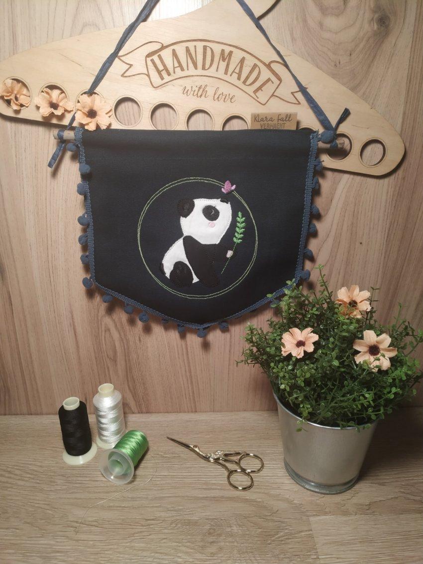 Stickdatei Panda von der Probestickerin Klara Fall Vernäht