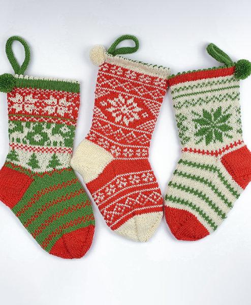 Weihnachtssocken im Norwegermuster stricken