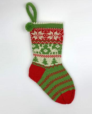 Weihnachtssocke stricken