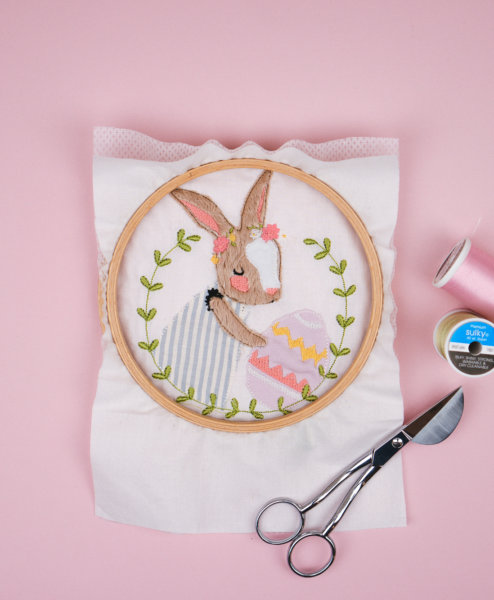 Stickdatei Osterhase (Applikation)