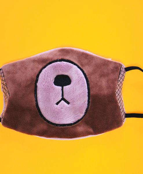 ITH Behelfsmaske Bär (Anwendungsbeispiel)