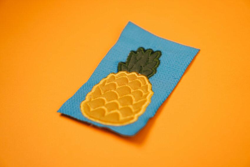 Stickdatei Ananas Applikation
