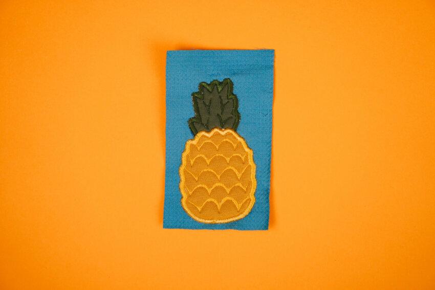 Applikation Stickdatei »Ananas« mit Plustervlies