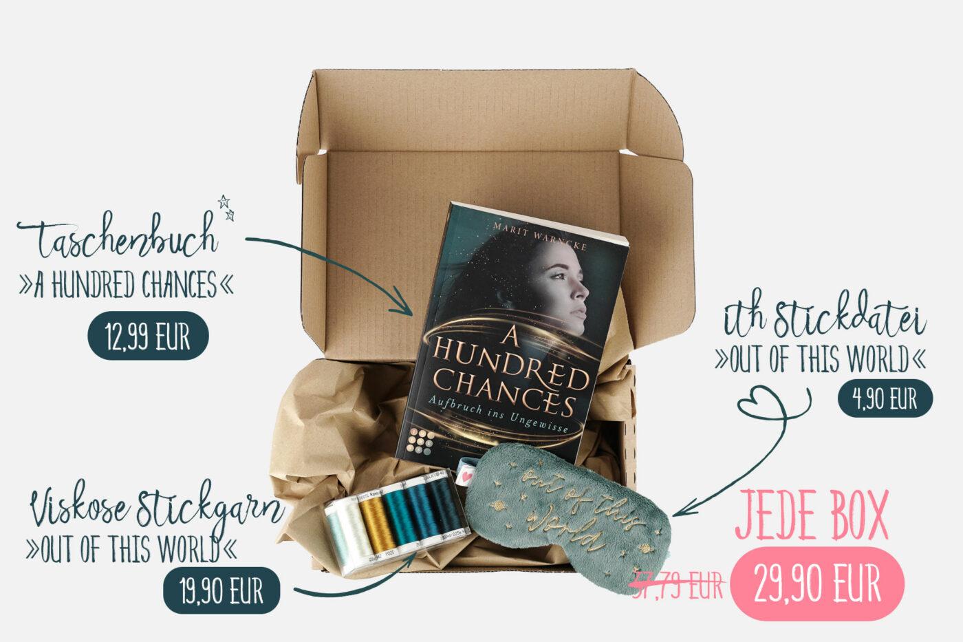 »A Hundred Chances« Geschenkbox mit Garnset und ITH-Stickdatei