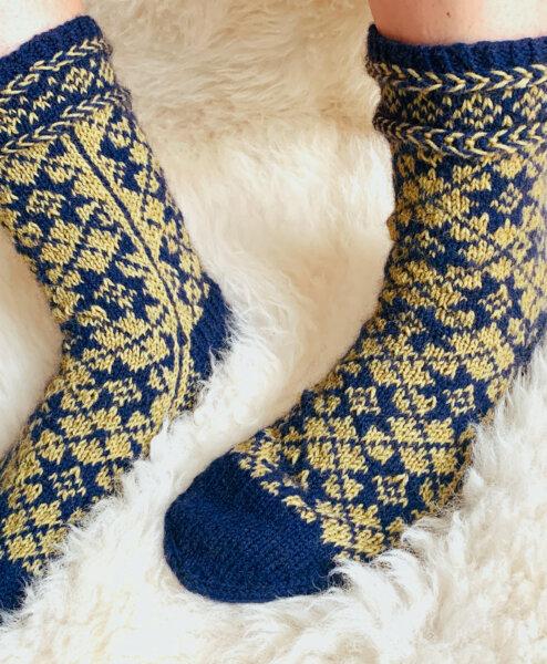 Strickanleitung Socken »Kersta« von Barbara