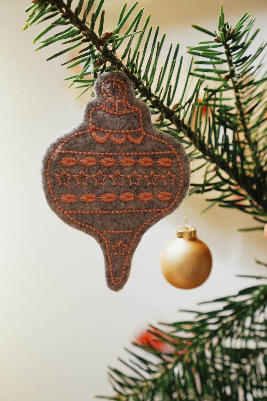 Weihnachtsbaumschmuck Stickdatei